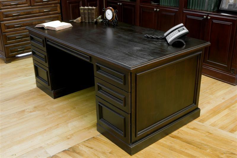 Custom Maple Desk Stained Dark Wenge