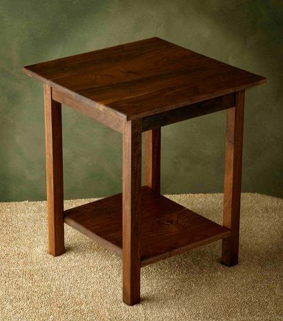 Solid Walnut Accent Table
