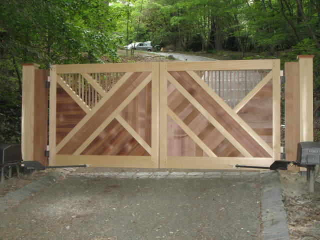 build wooden driveway gate designs plans plans download