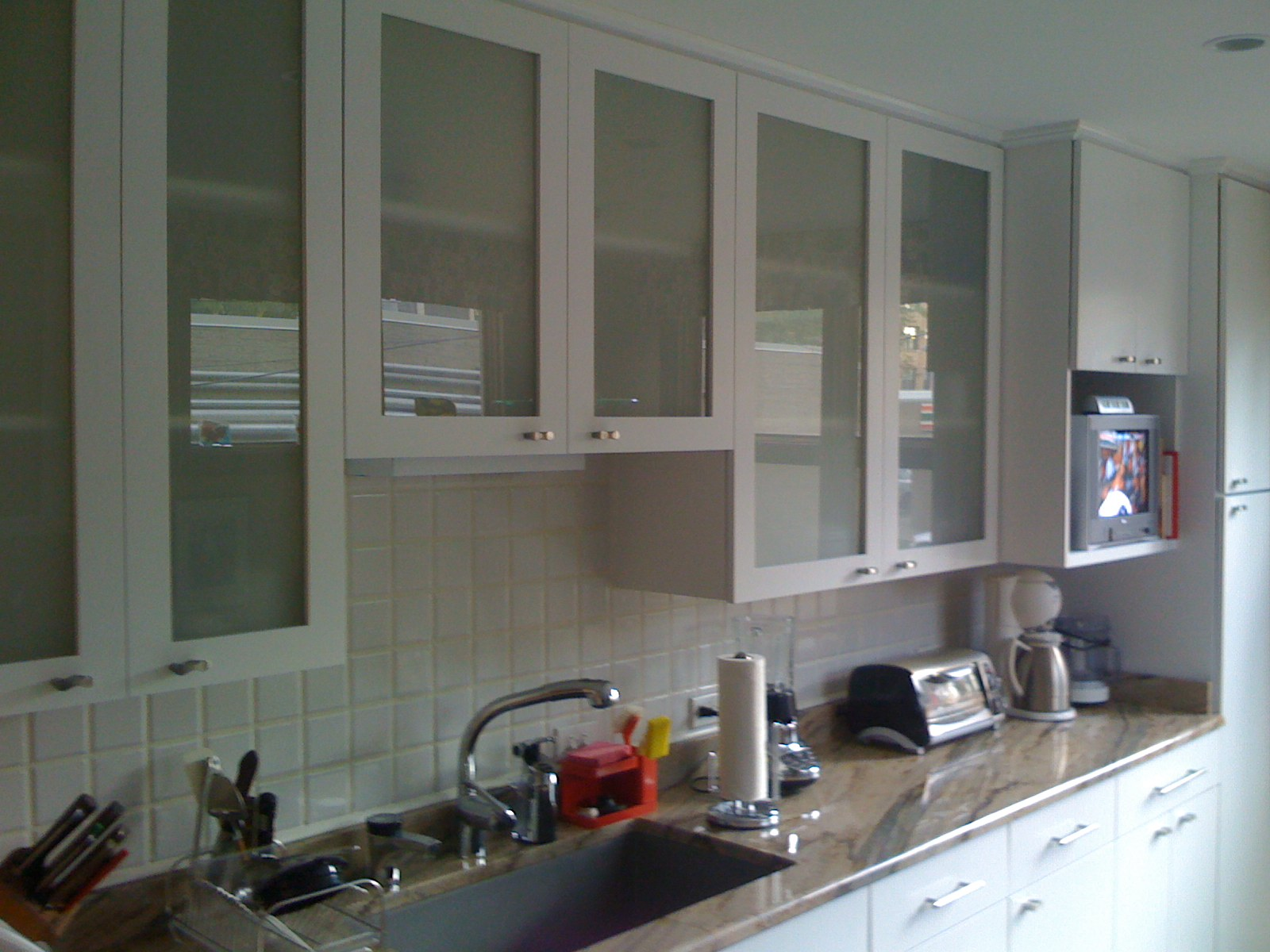 Cabinet refacing white painted Kitchen hanging cabinets design