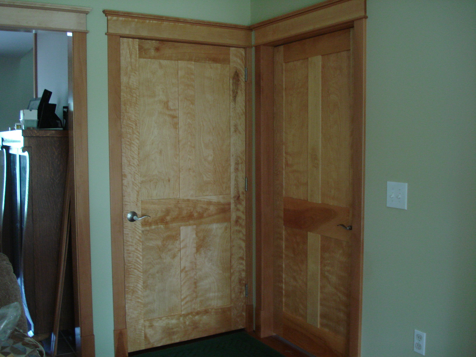 Curly Birch Interior Doors