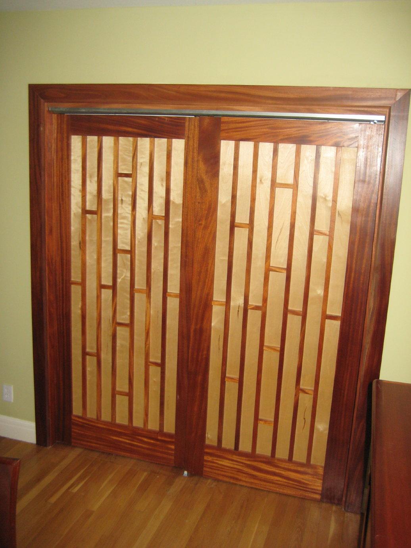 Mahogany Maple Closet Doors