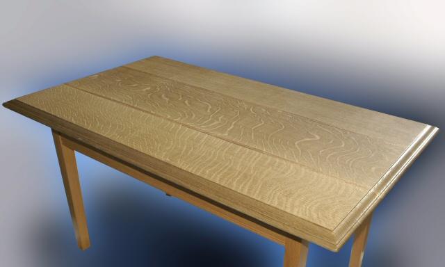 QS Wht Oak/Mahogany Table Top