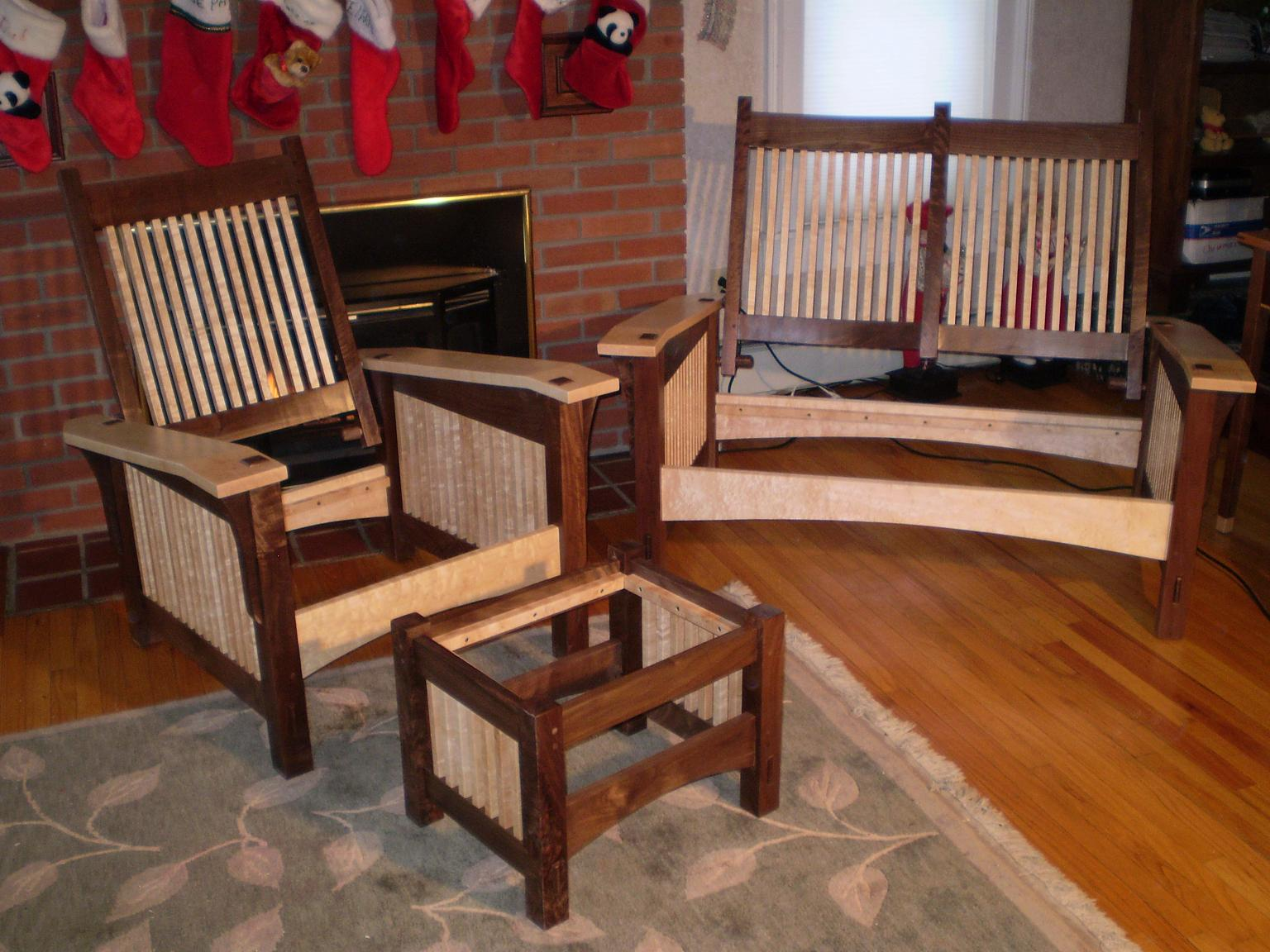 Morris chair plans - Morris Chair And Love Seat Recliners