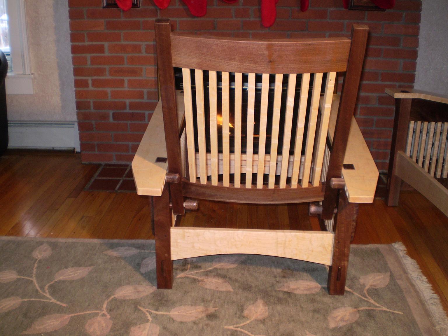 Morris chair plans - Chair Back