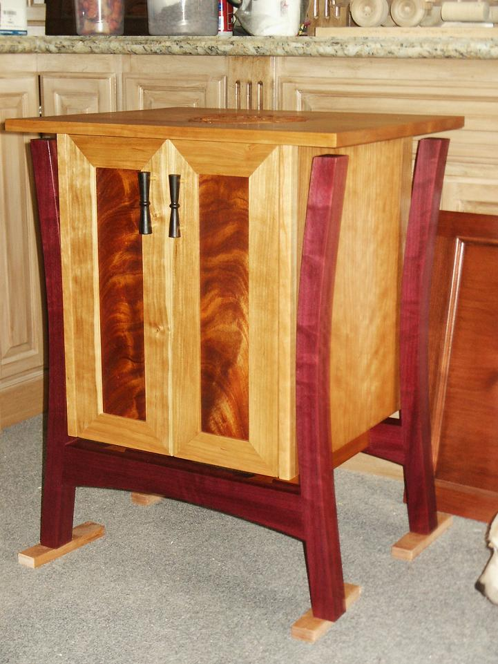 Cherry and Purple Heart Cabinet