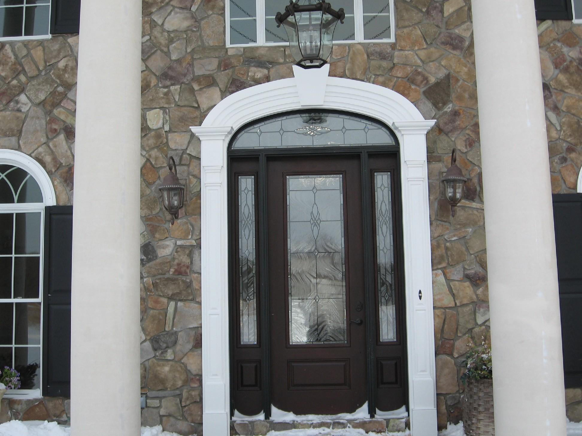 Arched Keystone Door Frame
