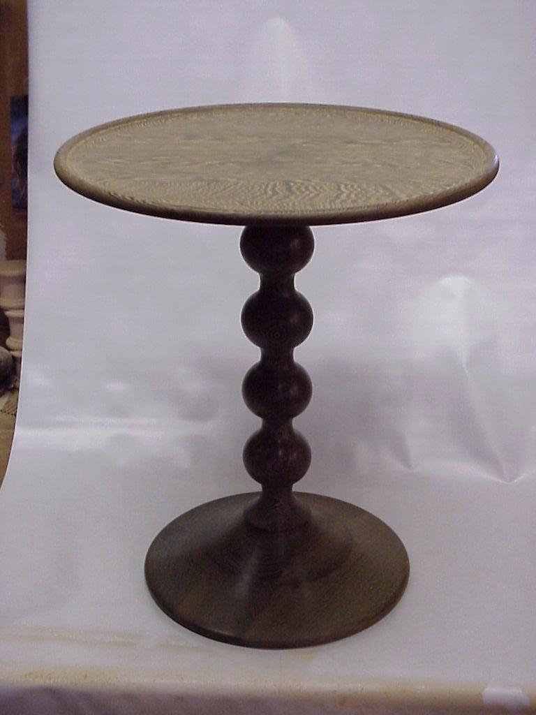 wenge turned table. Black Bedroom Furniture Sets. Home Design Ideas