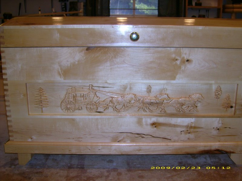 Maple toy box and or blanket chest