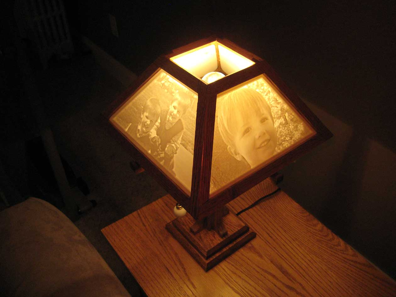 Craftsman Lamp With Custom Lithophane