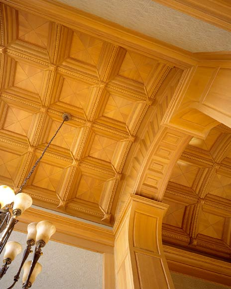 Coffered Barrel Vault Ceiling