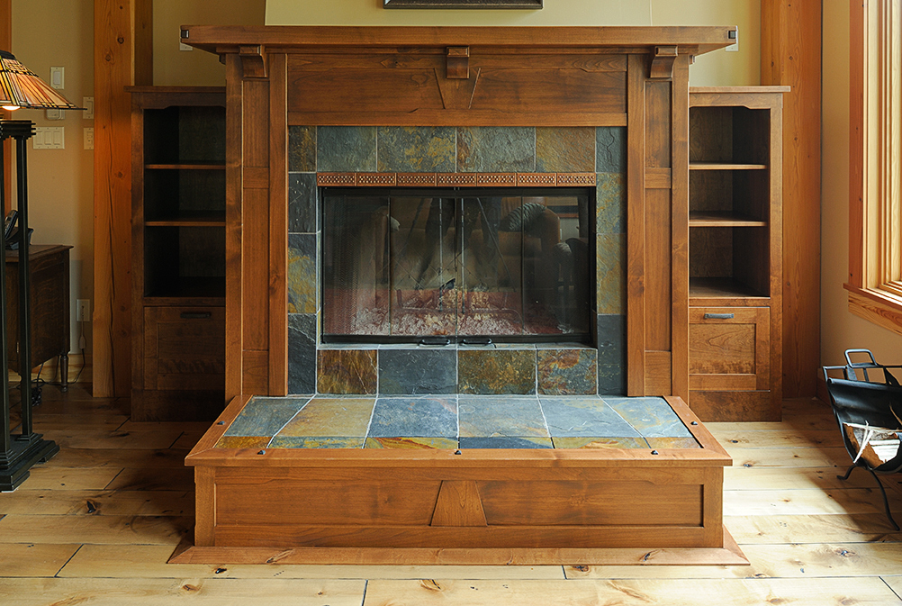 arts and craft fireplace mantel