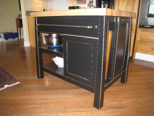 exceptional Distressed Kitchen Island Butcher Block #4: Asian island