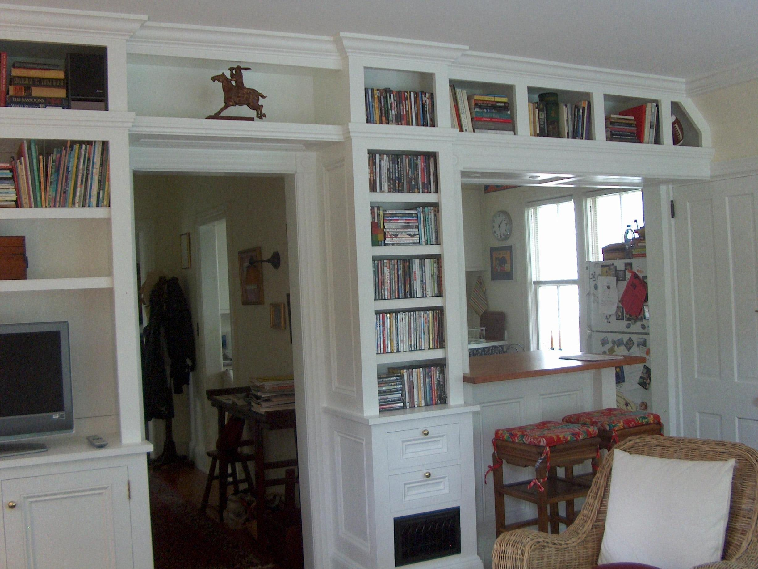 bookcase built in media cabinet. Black Bedroom Furniture Sets. Home Design Ideas