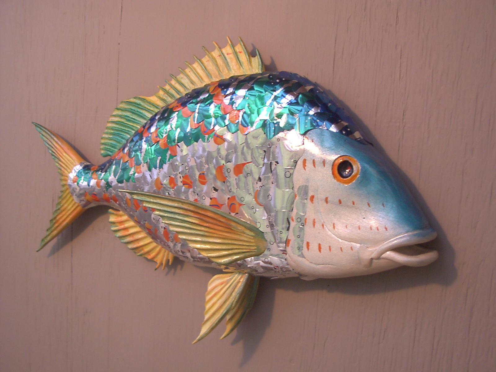 Wall mounted fish art for Fish wall mount
