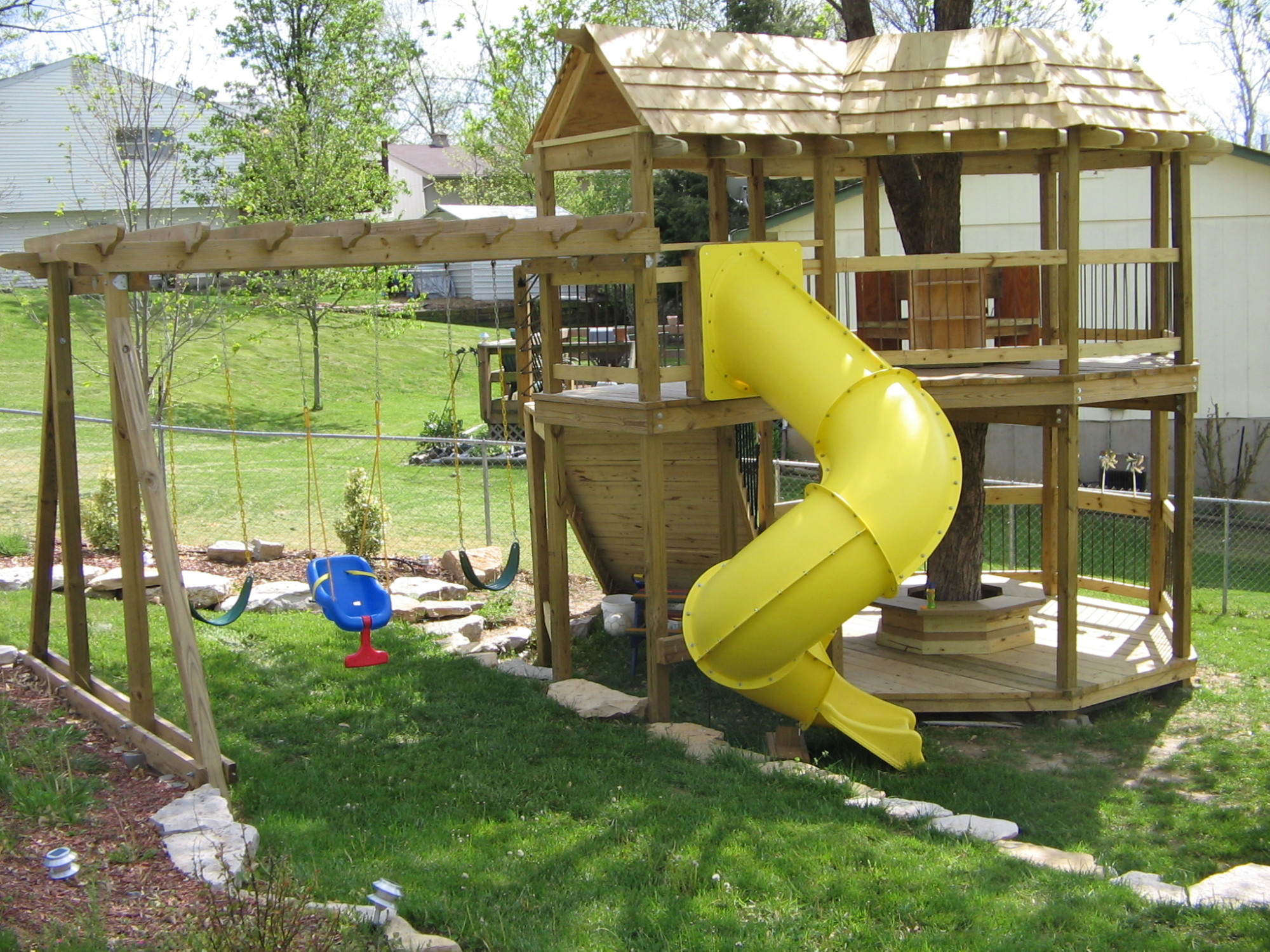 custom swing set