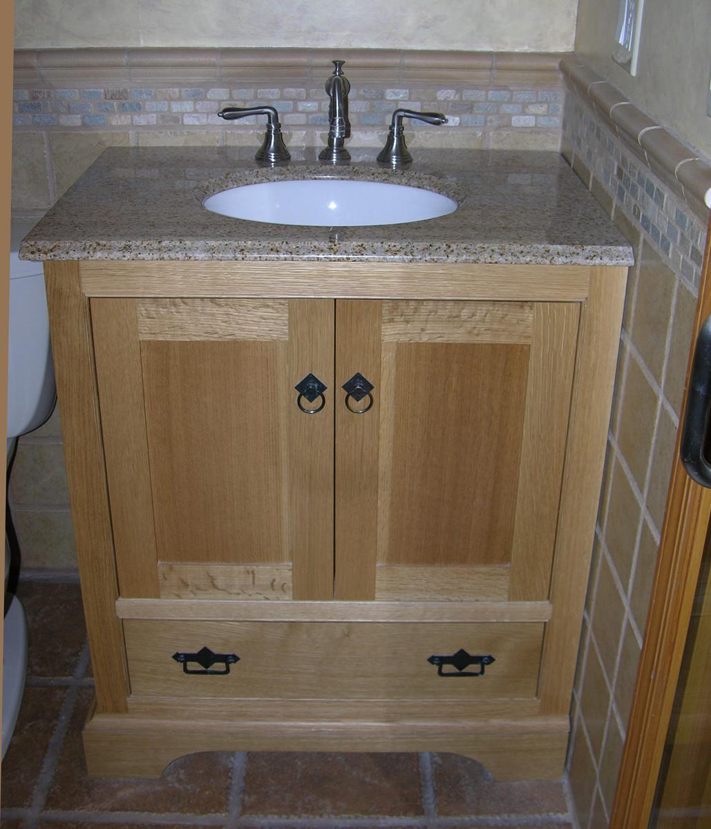 Rift Oak Bath Cabinets