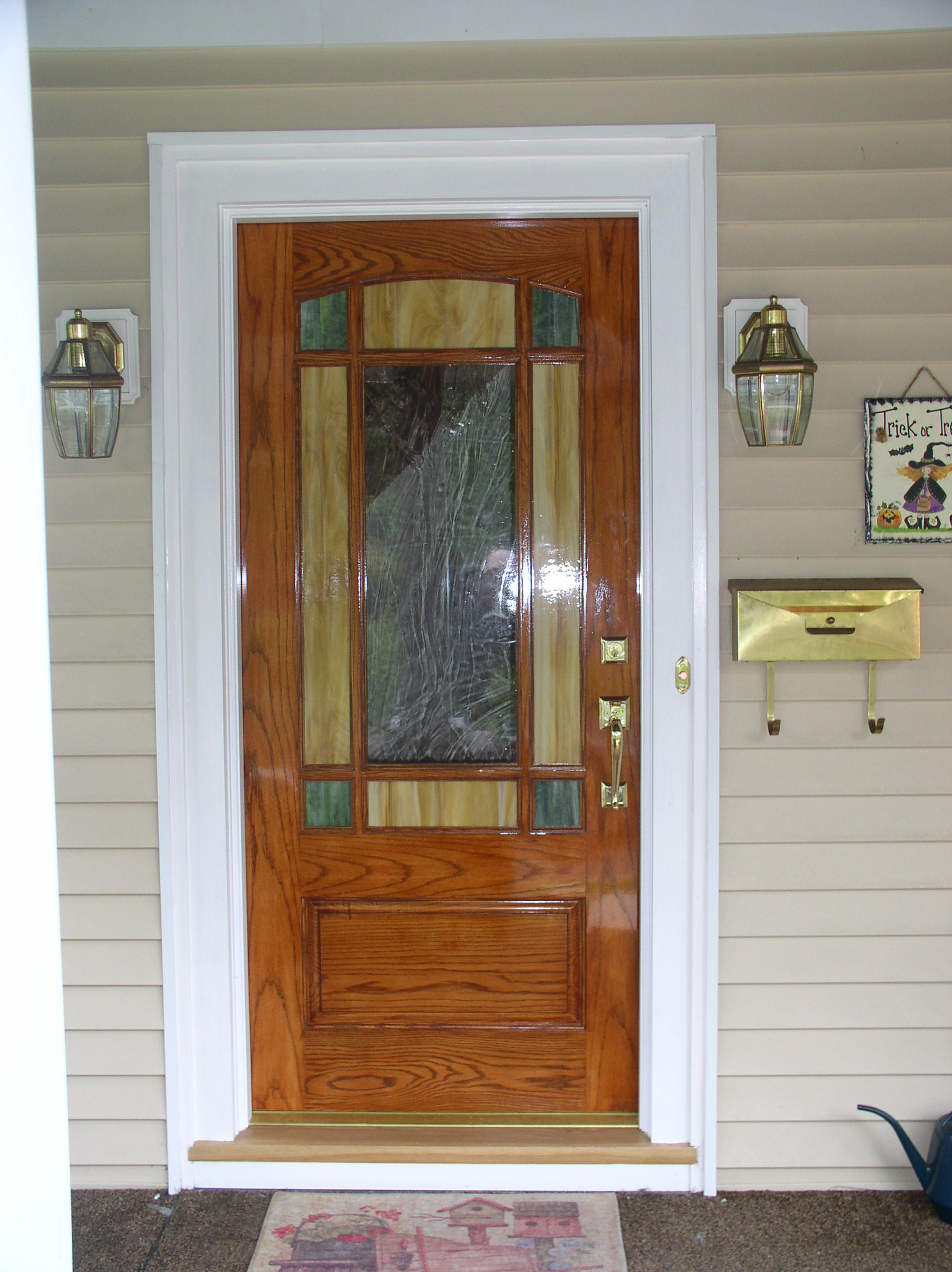 2288 #784220 Arts & Crafts Style Entry Door image Stained Glass Entry Doors 41831712