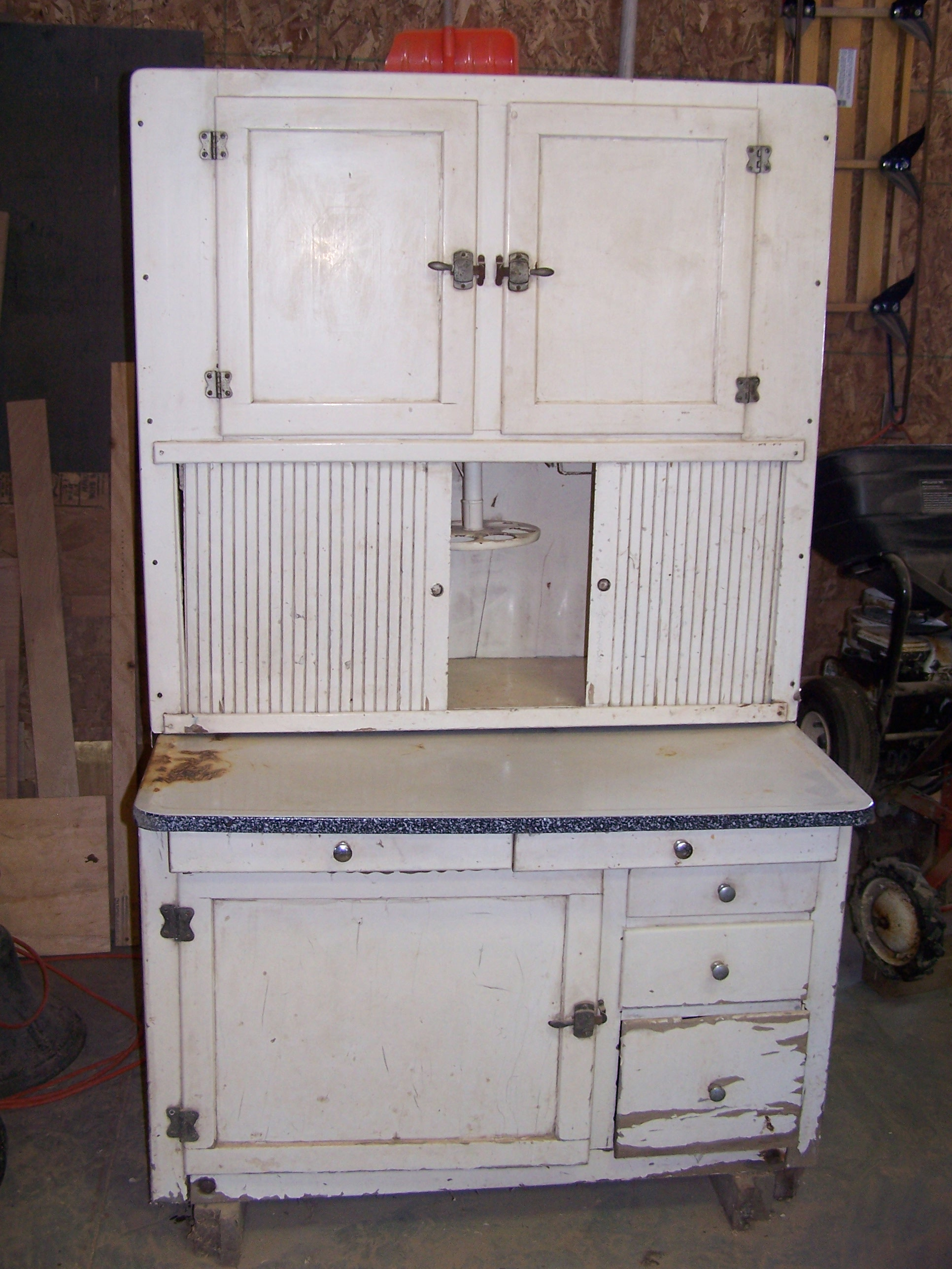 Hoosier cabinet refurb for Meuble antique kijiji