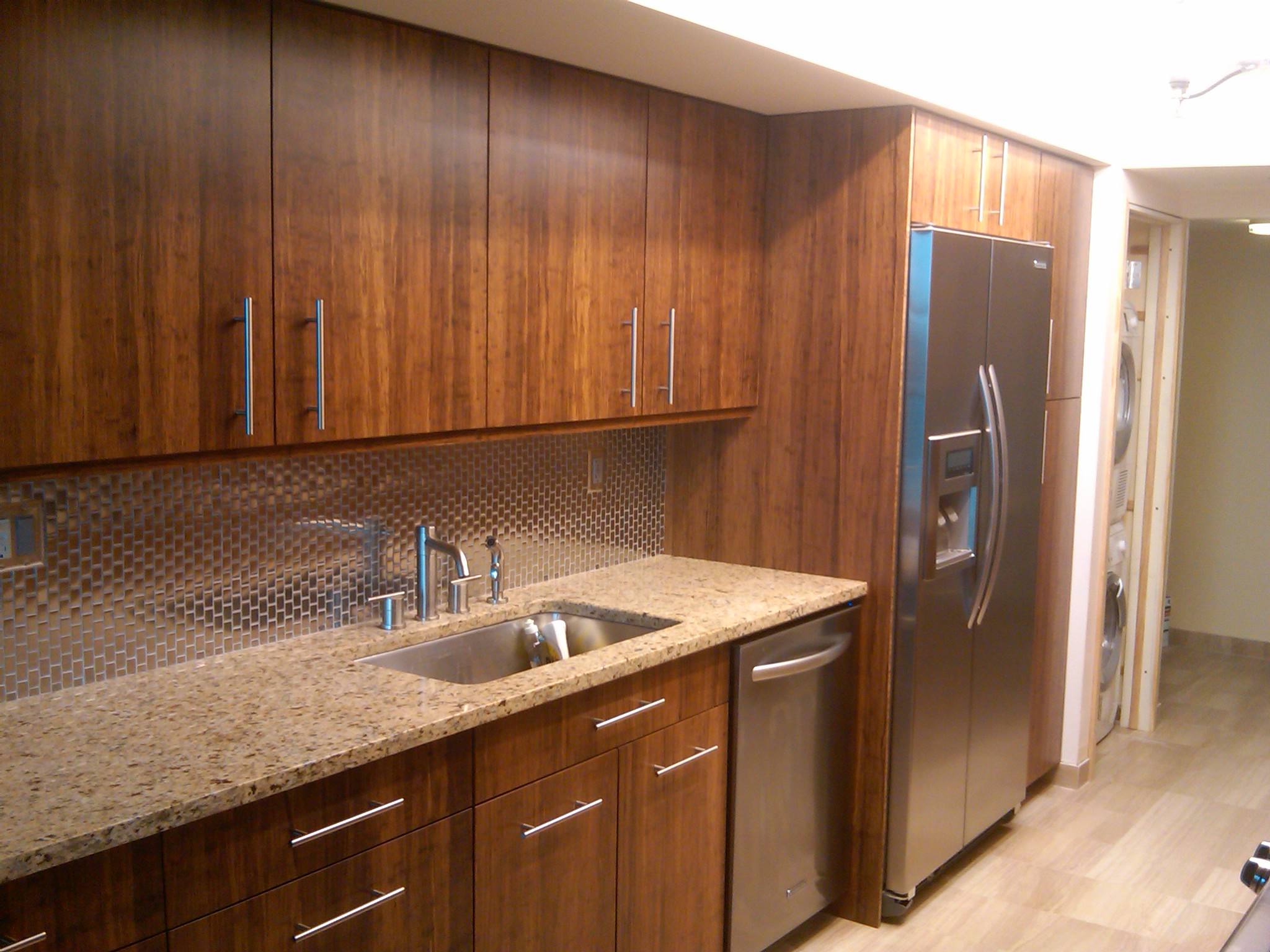 Miami bamboo kitchen for Bamboo kitchen cabinets