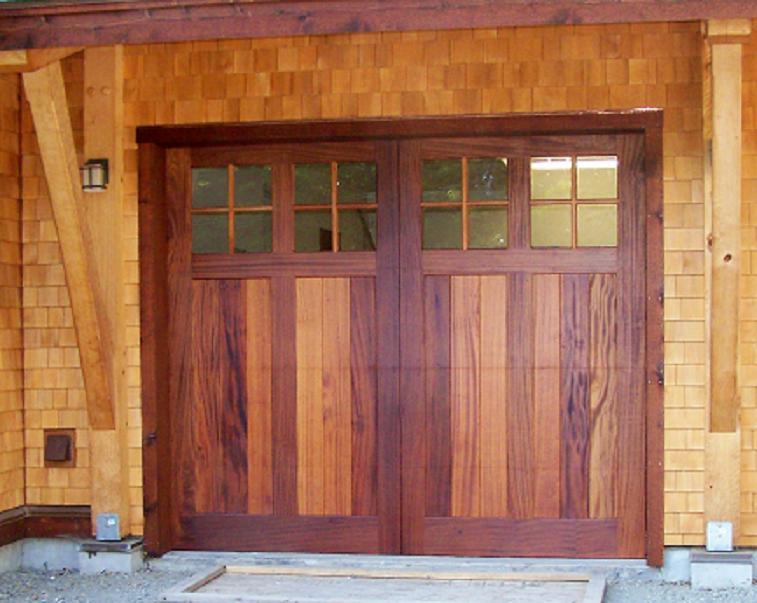 Craftsman Style Carriage Doors