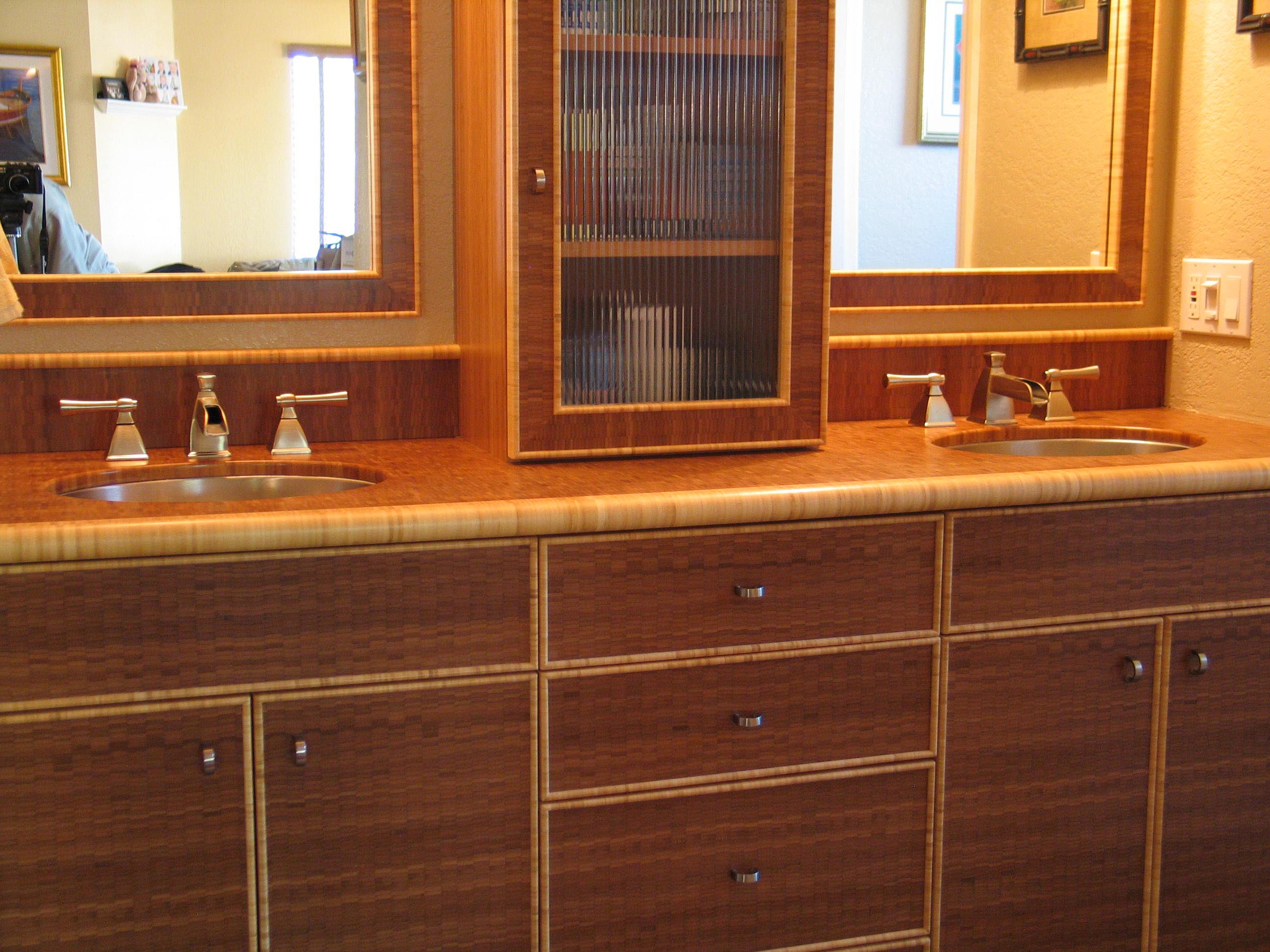 end grain bamboo cabinetry and furniture