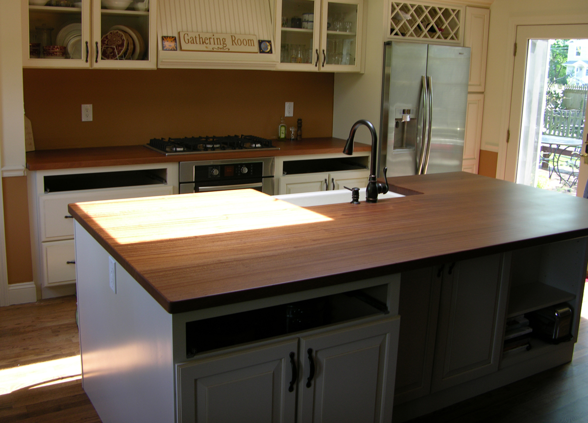 Sapele Kitchen Counter