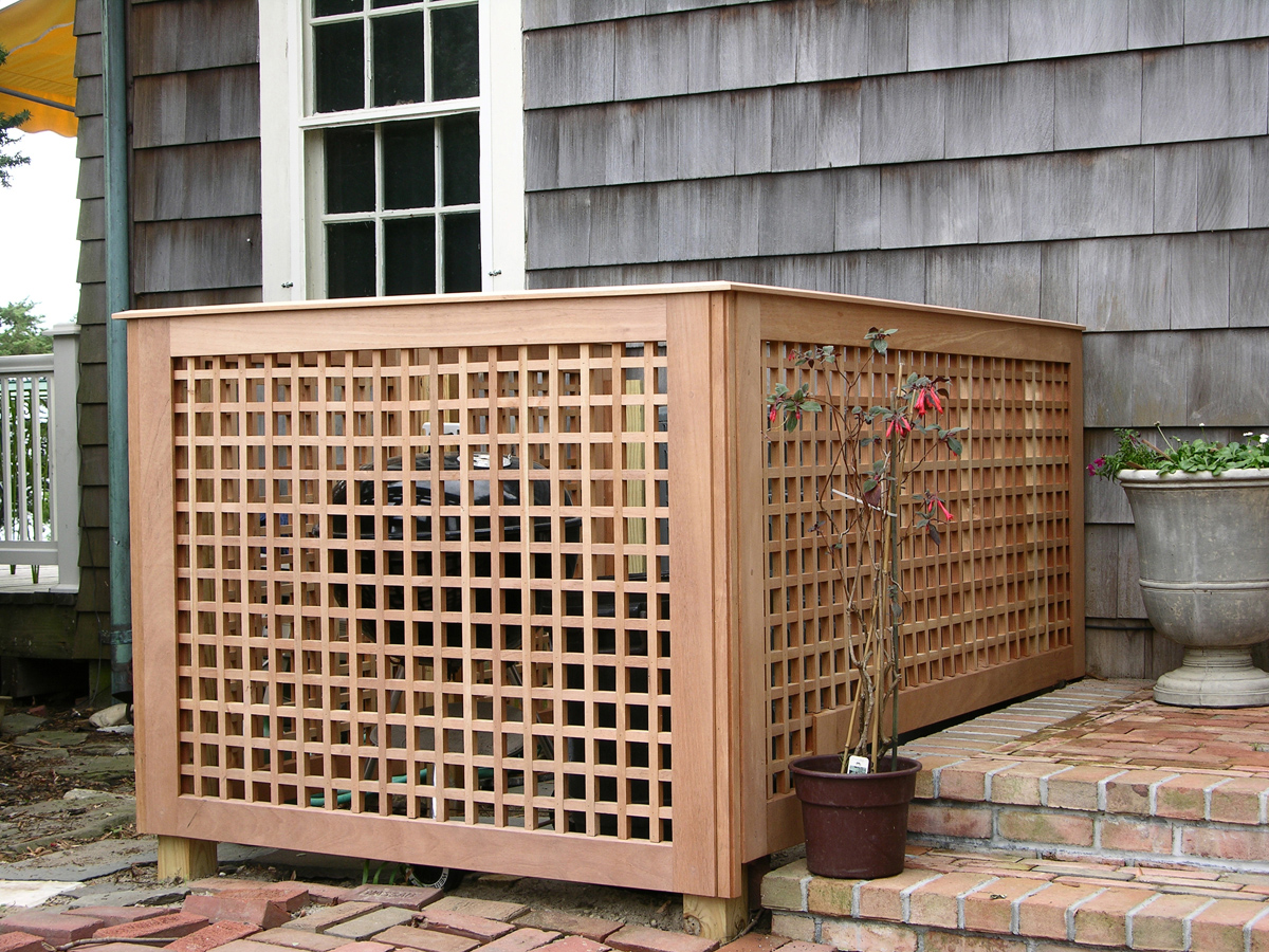 Custom spanish cedar fences for Wooden garden screen designs