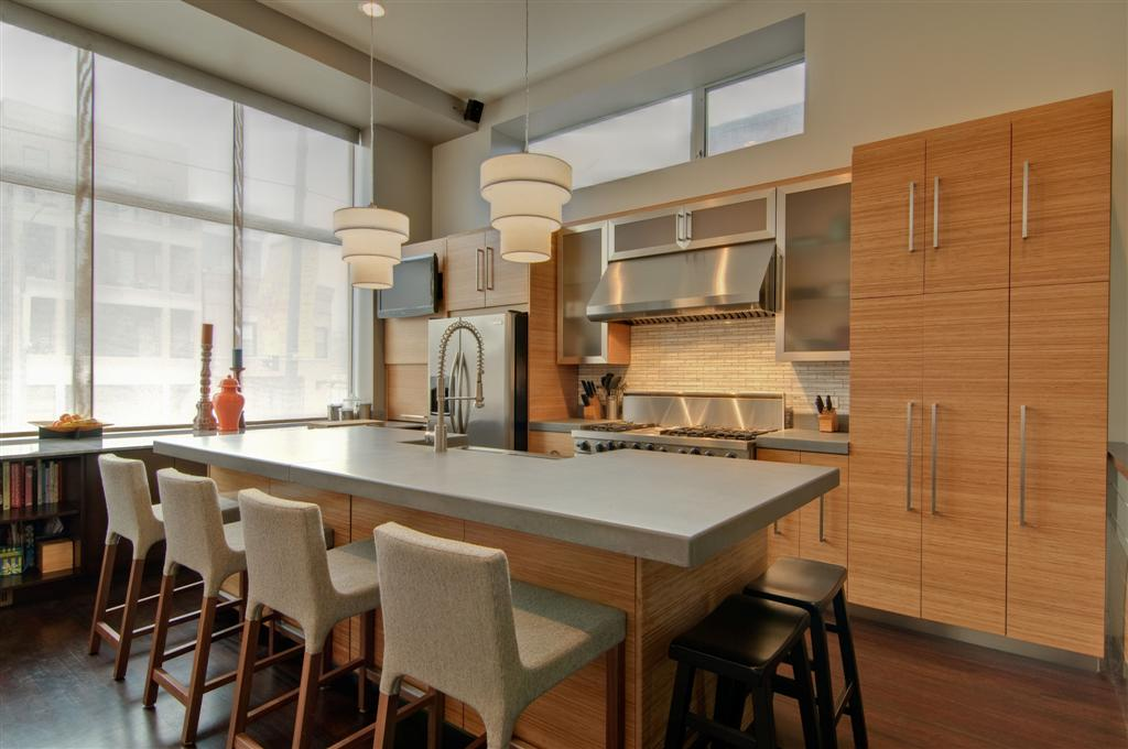 Custom bamboo kitchen for Bamboo kitchen cabinets