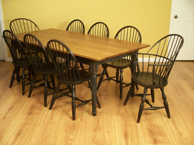 Windsor Chairs And Dining Table