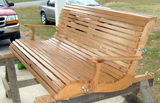 Download oak porch swing plans pdf outdoor bench for How to build a swing chair