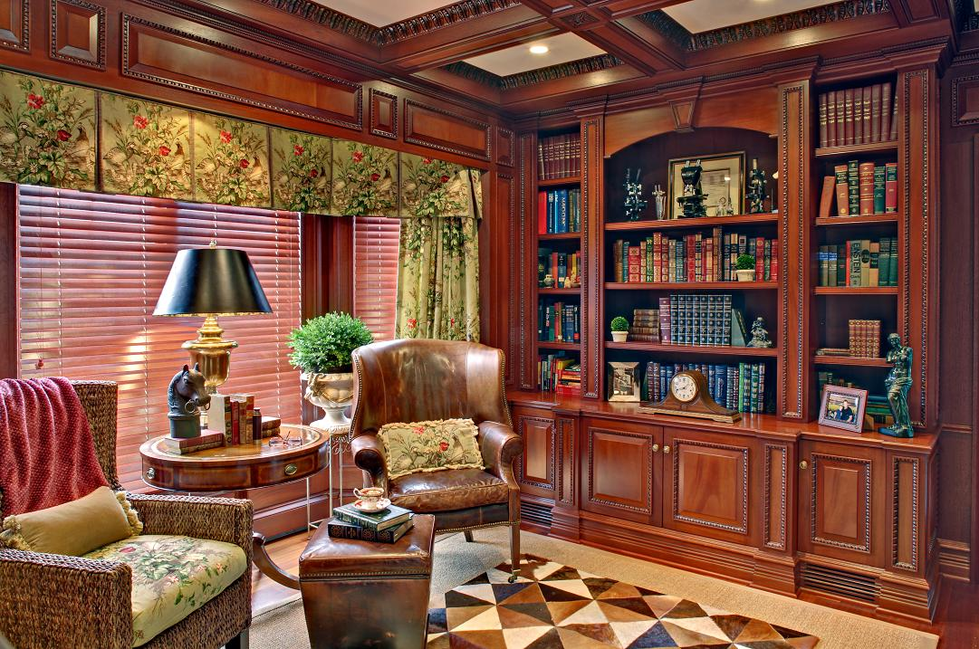 Mahogany Home Library Office