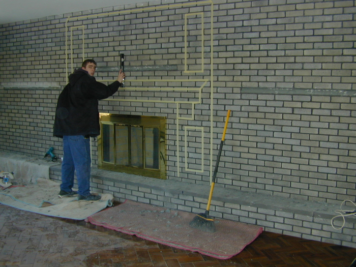 Removing gas logs from fireplace surrounds