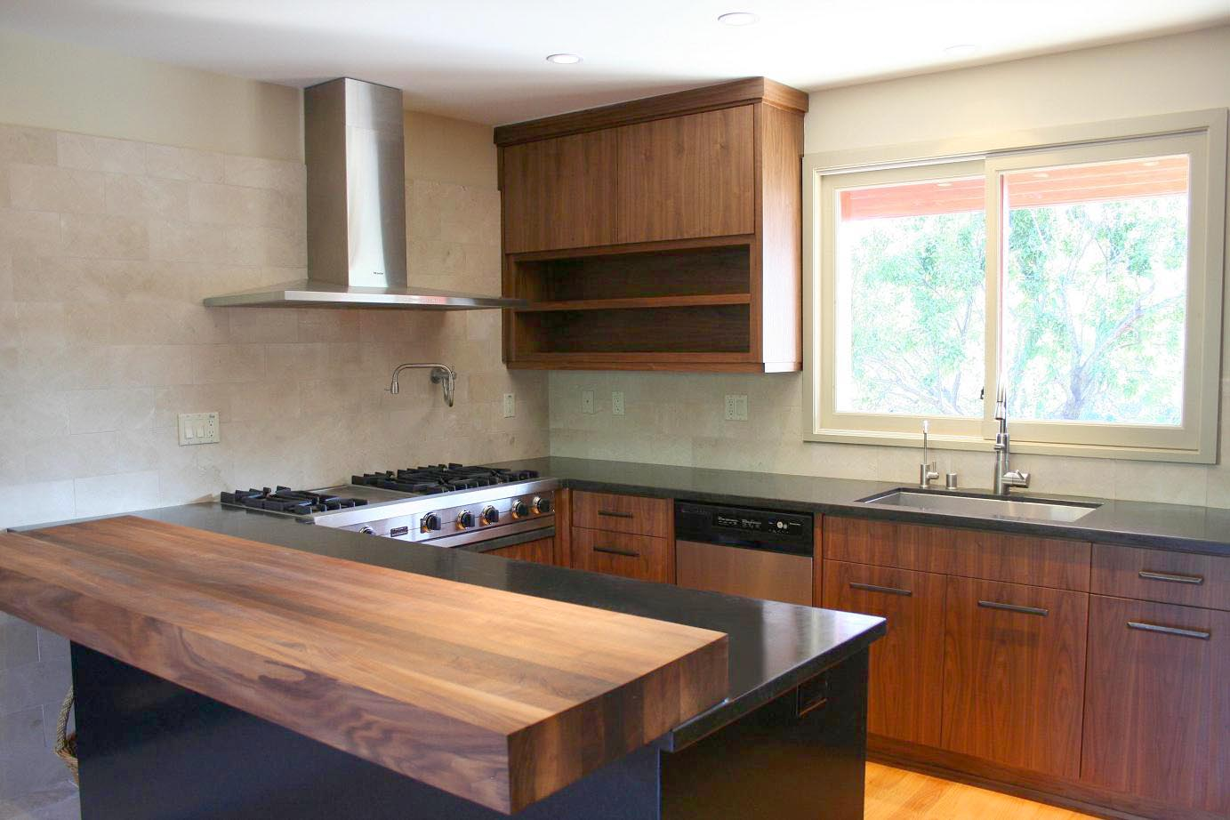 Walnut Kitchen Modern Walnut Kitchen
