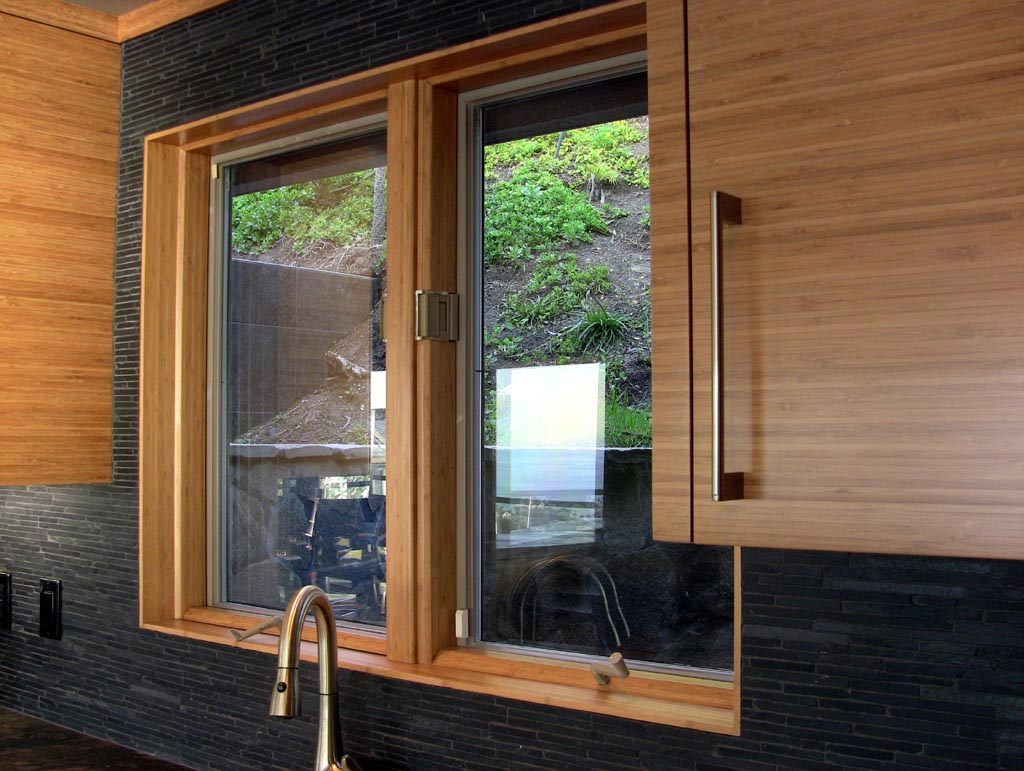 Bamboo Kitchen Featuring Canterlevered Island