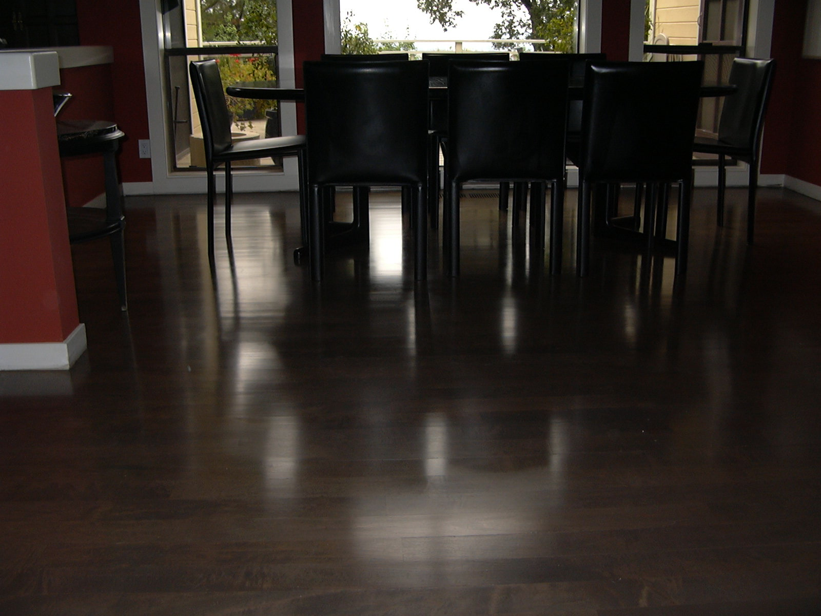 Maple floors stain dark for Black hardwood flooring