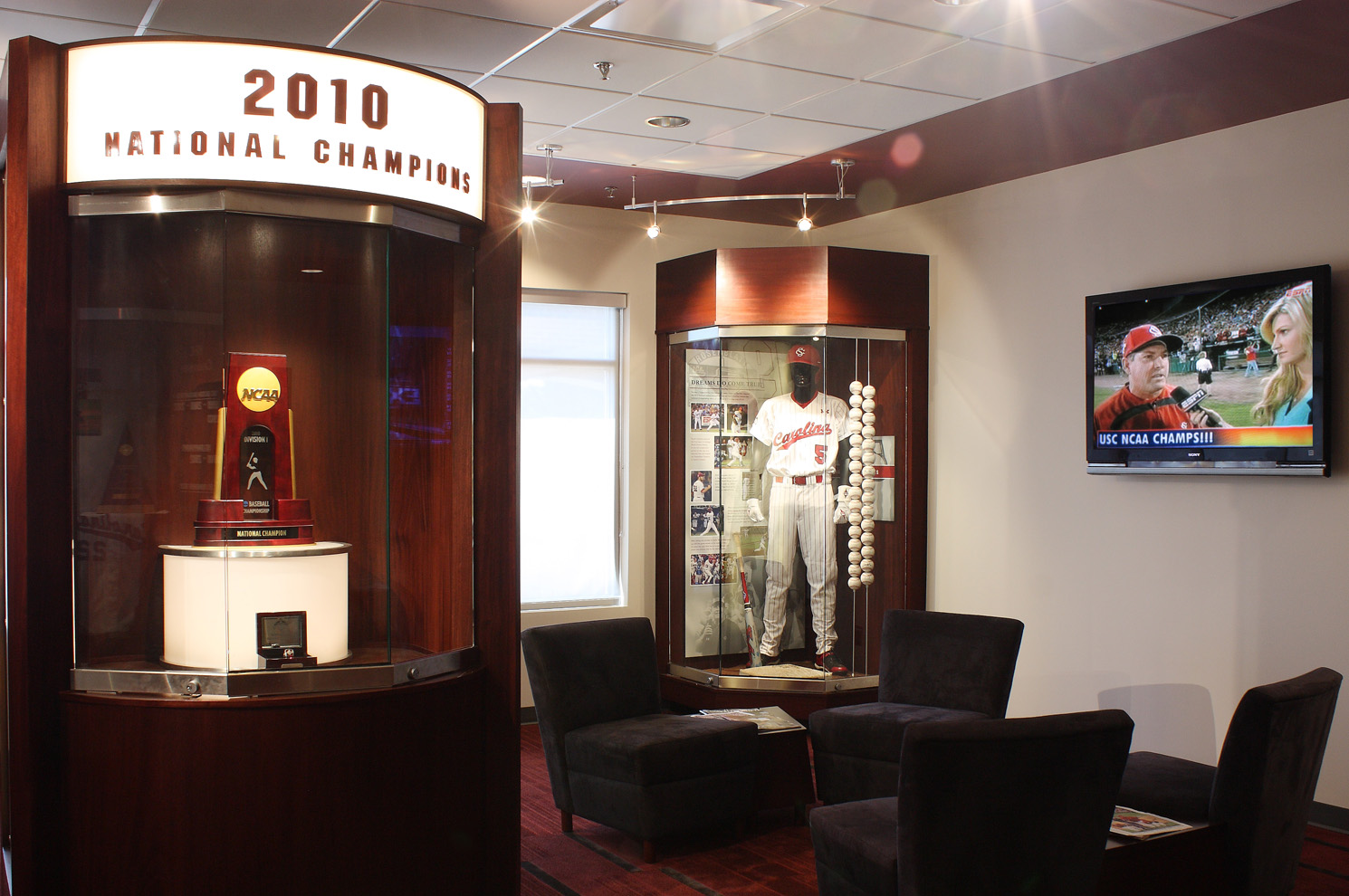 Usc World Series Ncaa Trophies