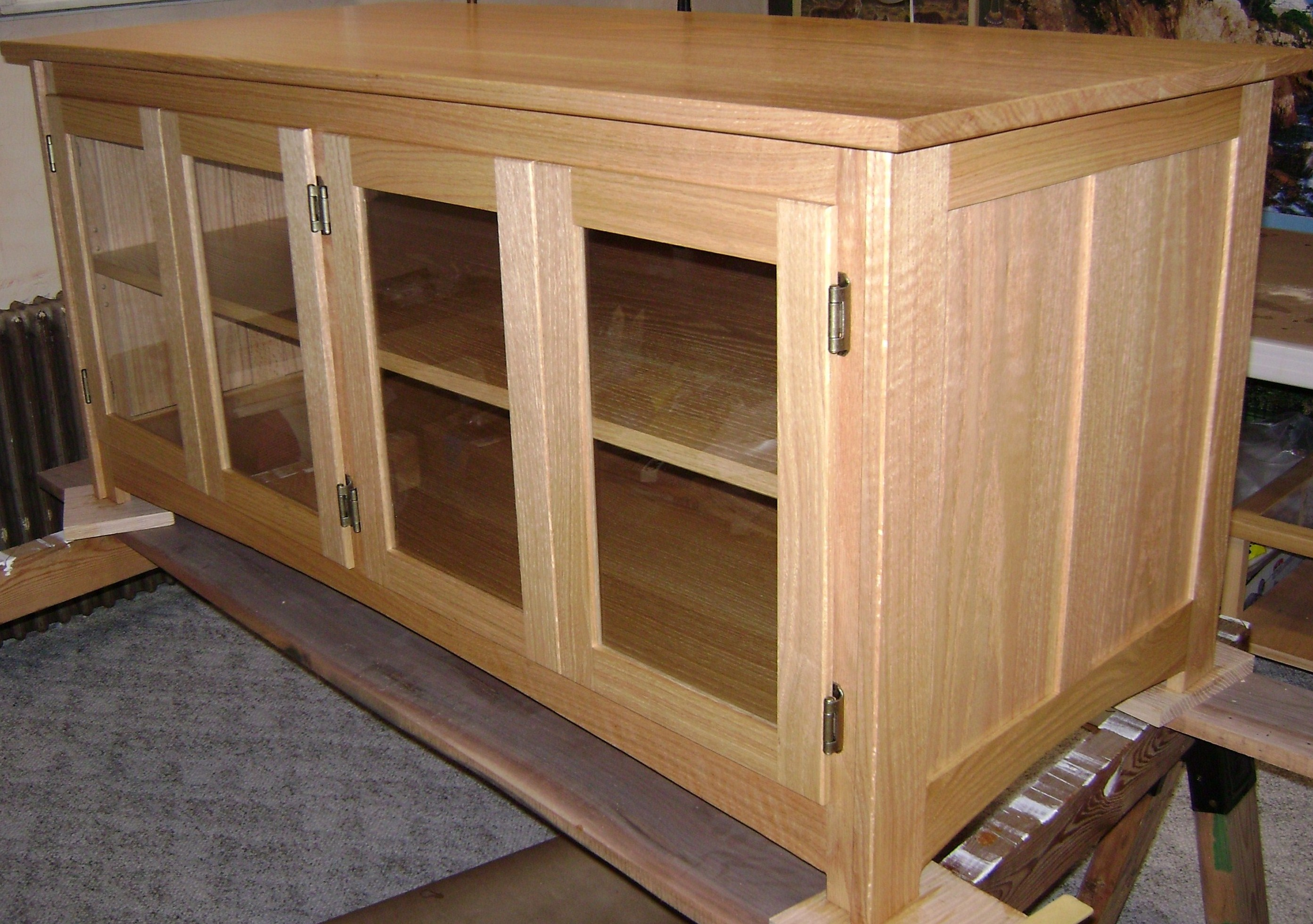 Build wooden craftsman tv stand plans plans download craft for How to make tv cabinet