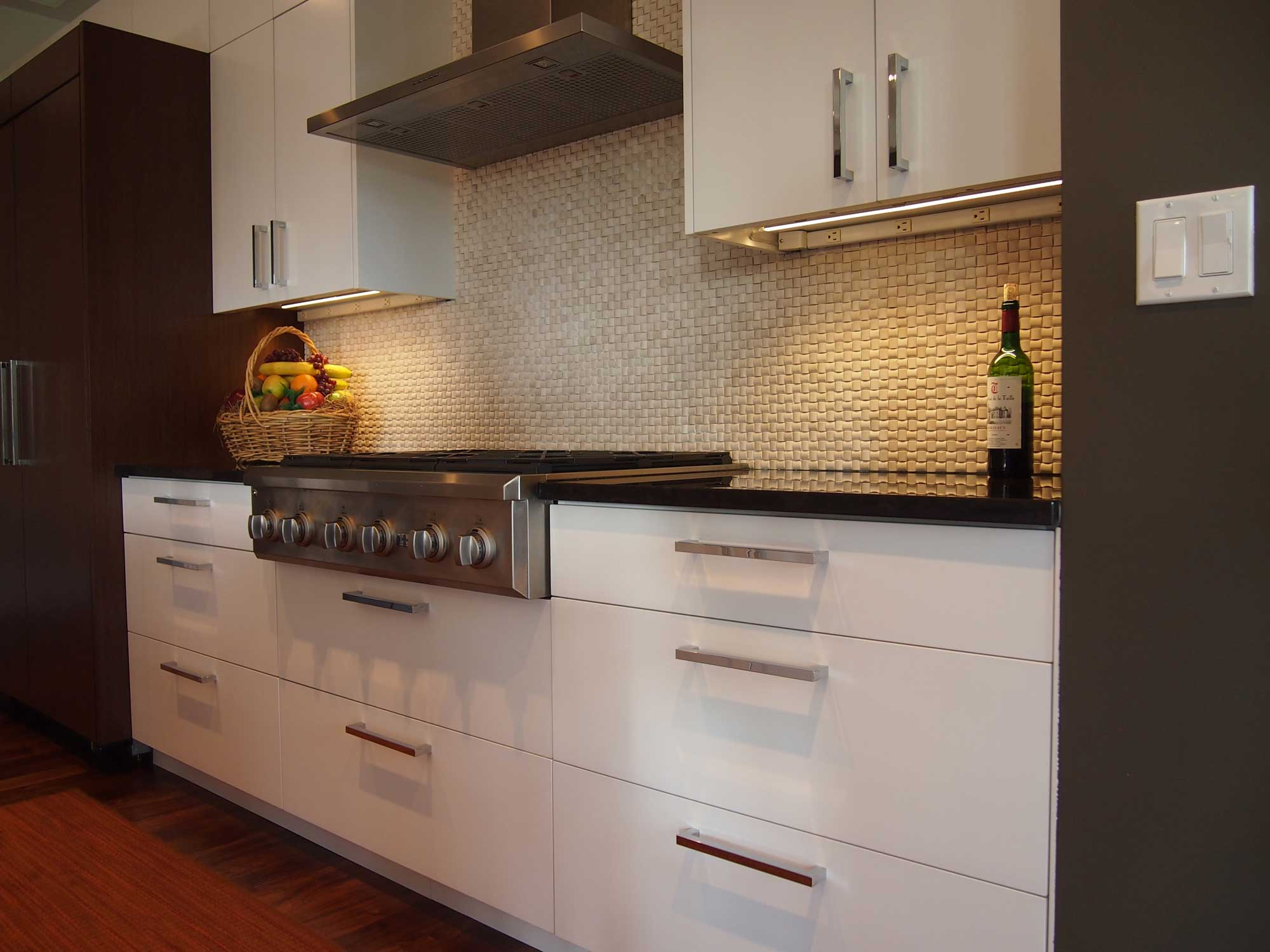 White and wenge kitchen for Wenge kitchen designs