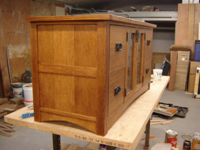 & Arts and Crafts TV cabinet