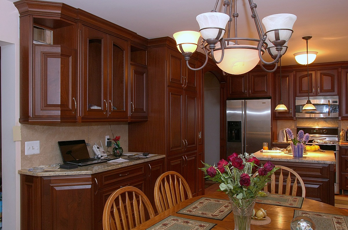 Sapele mahogany kitchen Kitchen design mahogany cabinets