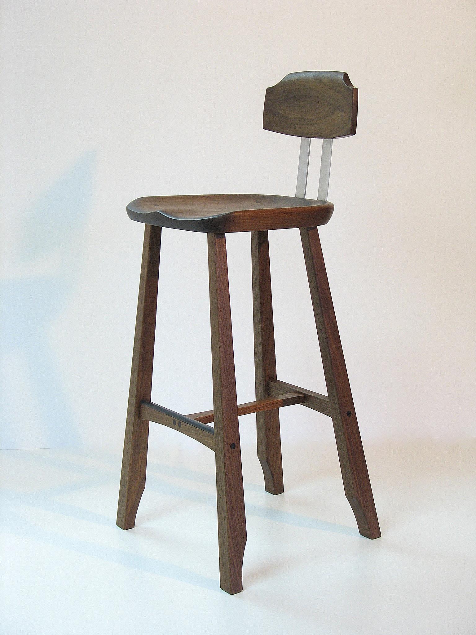 Sculpted Seat Bar Stool
