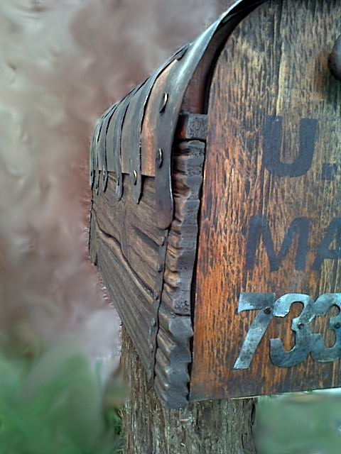 Country Style Rustic Mailbox With Metal Forging