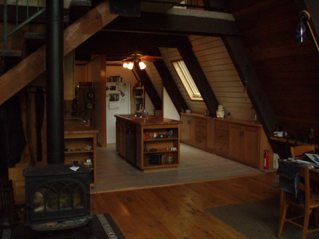 A Frame Cabin Kitchen