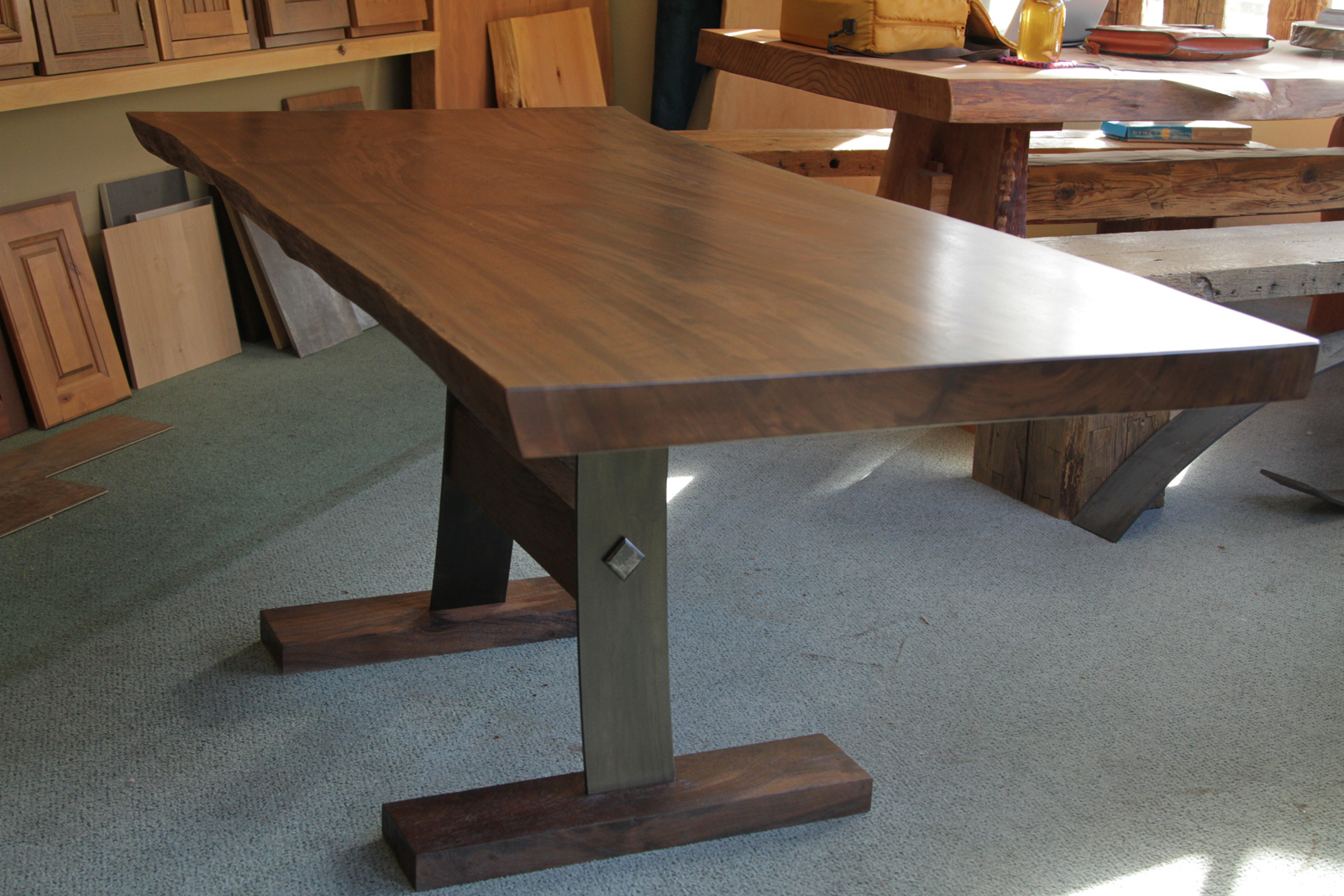 claro walnut table live edge dining room table. Black Bedroom Furniture Sets. Home Design Ideas