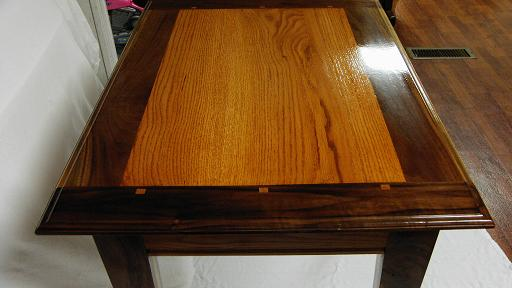 Walnut And Oak Entry Table
