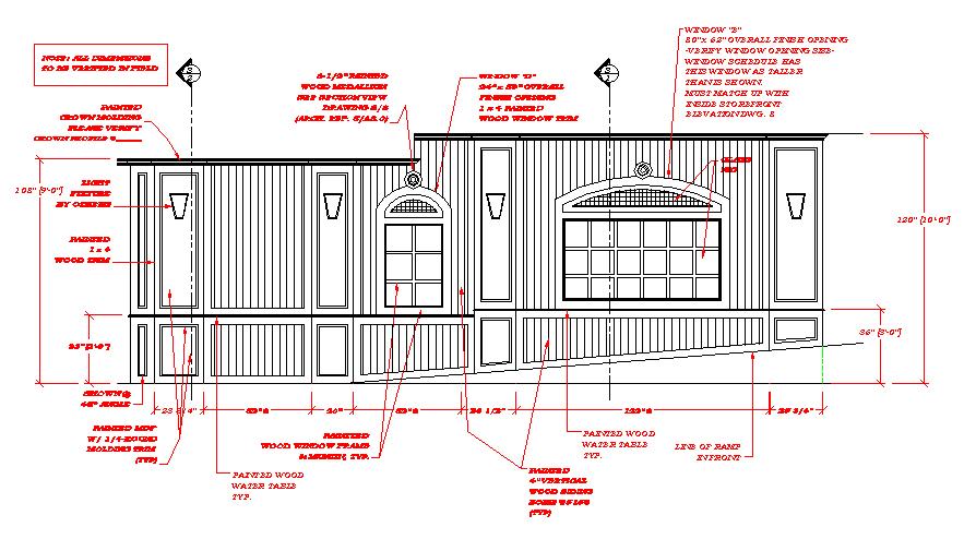 Elevation Woodwork : Shop drawing samples