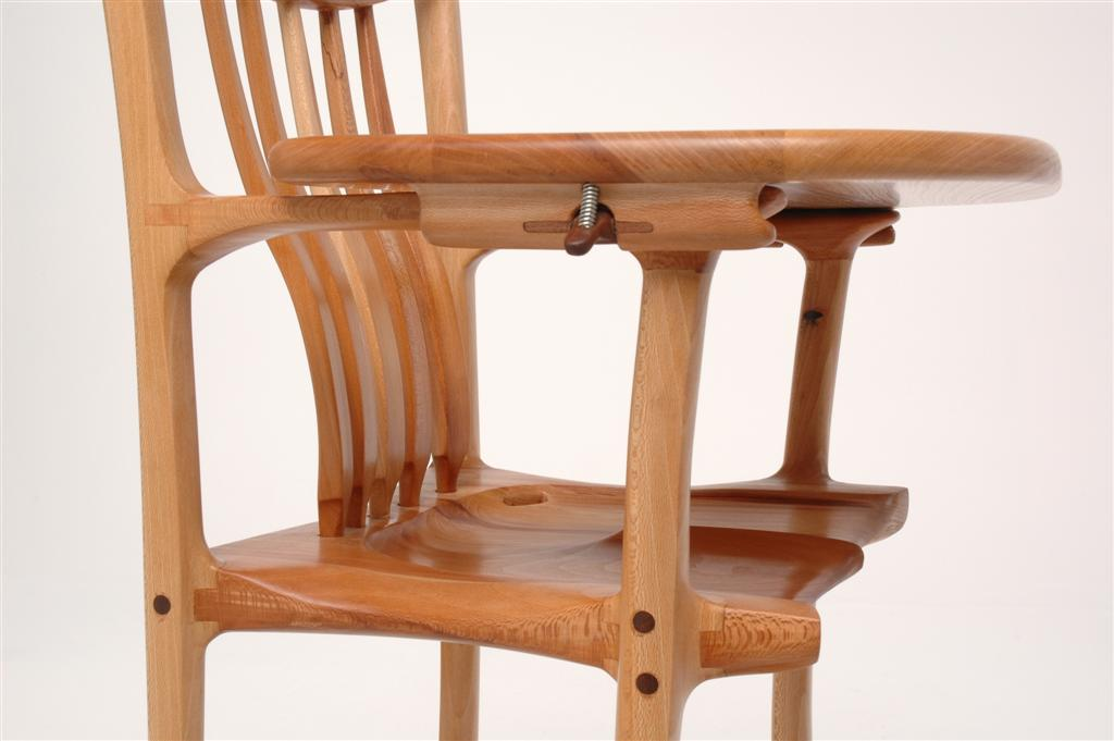 Two Sculpted High Chairs