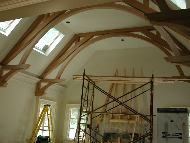 Arched beams for Arched ceiling beams