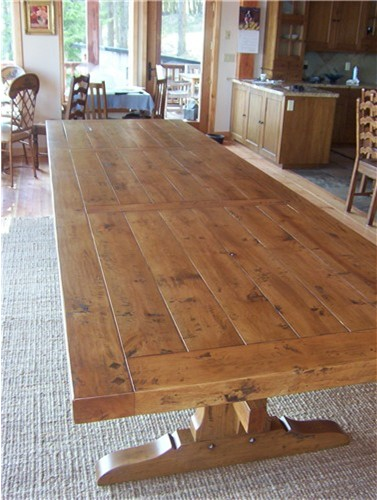 12 Hand Hewn Trestle Table